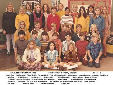 Mr. Katz 1971-72 6th grade class