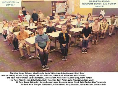 Miss Repella's 1969-70 4th grade class