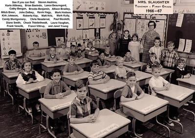 Mrs. Slaughter's 1966-67 first grade class