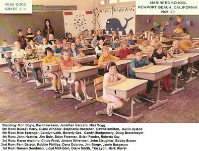Miss Sogg's 1969-70 3rd-4th grade class