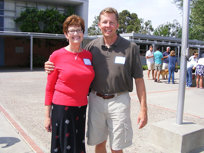 Mariners 2nd Grade Teacher, Jeanine Bedard, with former student, Billy Beamish
