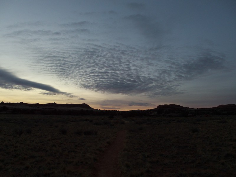 Dawn at Squaw Flat, in Canyonlands National Park.