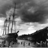 On the mud flats of the Sheepscot River in Wiscasset, for a century, the ships Hesper and the Luther Little wait. I arrive in a storm with camera in 1968. But, I print this negative for the first time in 1969 at Sangly Point in the Philippines. Navy photographer Ron Letarte, who happens to be from Maine,  sees the image and loves the glimpse of home. Years later, a storm destroys the ships and Letarte tells the story to a newspaper friend. I send him a print. The local paper runs this picture 35 years after I snap the shutter.