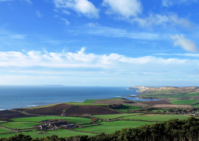 The view West from Swyre Head towards Portland.