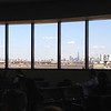 View of Manhattan from inside Newark airport