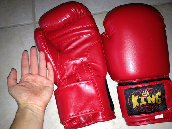 Look how big my gloves are. They're like clown shoes on my hands.