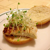 Mahi sandwich with clover sprouts courtesy of Fullei Fresh