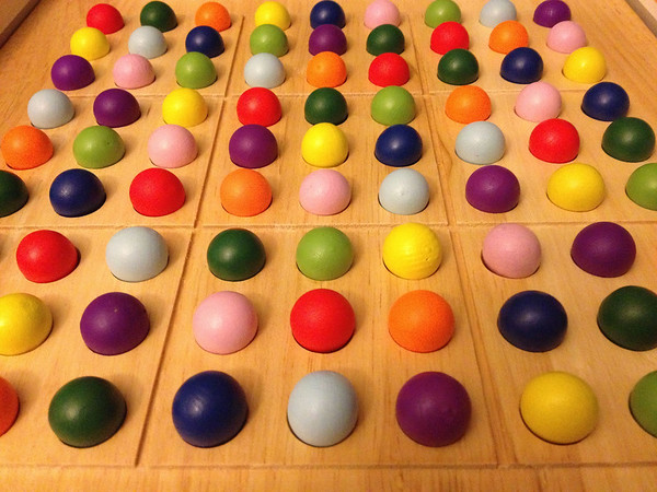 Sudoku game board - doesn't it look like yummy candy?