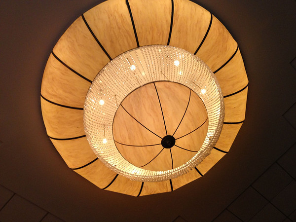Large chandelier at a ballroom where I was photographing an event
