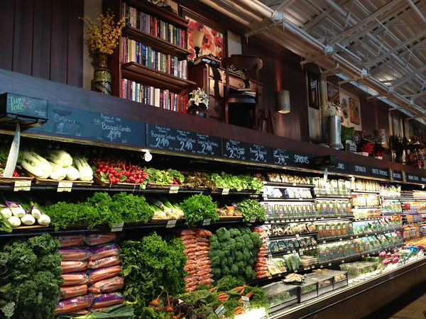 Pretty display - look above the produce too