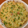 Bean sprout galette w with daikon sprouts courtesy of Fullei Fresh