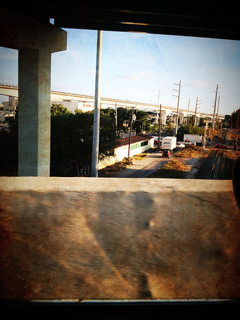 My intent was to capture the train tracks. Taking pictures from a moving vehicle is not encouraged.