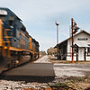 Freight Train Passing Through Pinewood, SC
