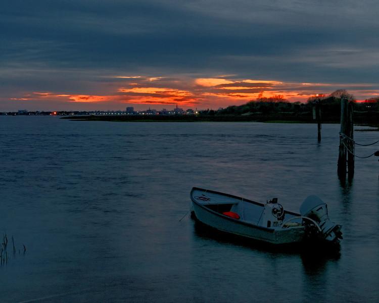 Sunset at Shem's Creek - Charleston Harbor in background