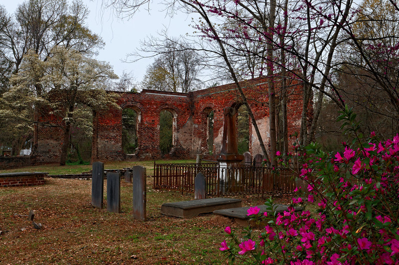 Biggin Church Ruins, near Moncks Corner.  Built in 1711 and reconstructed in 1781.