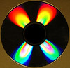 Special effects -- common CD refracting light.
