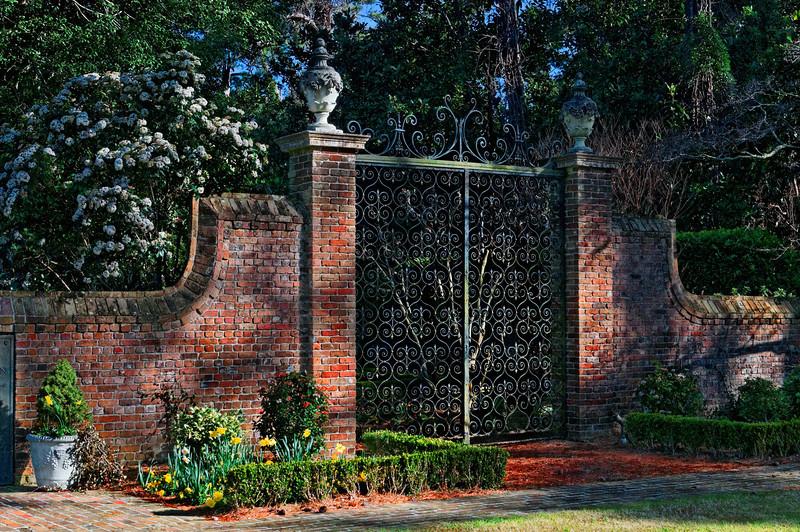 Entrance to Elizabethan Gardens - Manteo