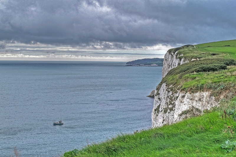 The view along the cliffs towards Swanage Bay.