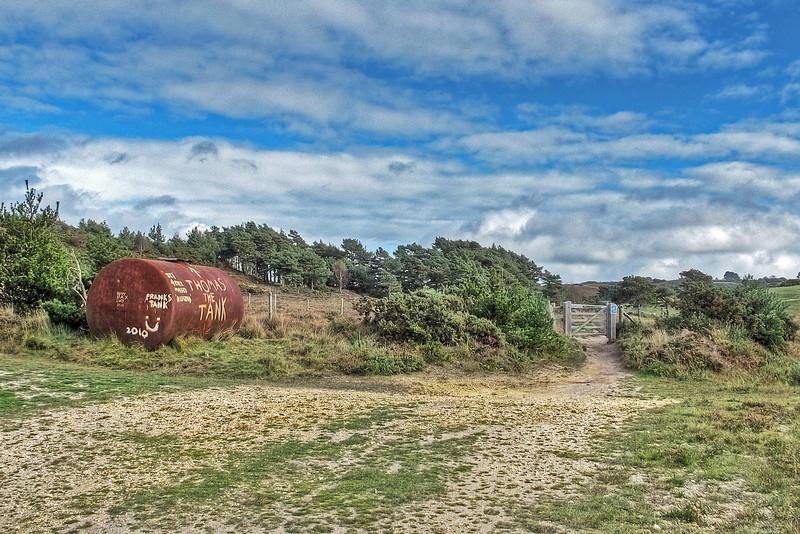 Frank's Tank, a landmark on Studland heath.