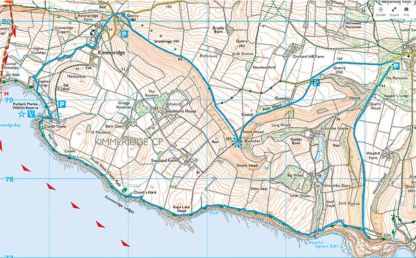 A 9.1 mile SDR walk from Houns Tout Carpark, Kingston, Dorset on 25 October 2015