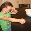 So cute....we were eating chips and cheese dip (a Mother Mol creation)....