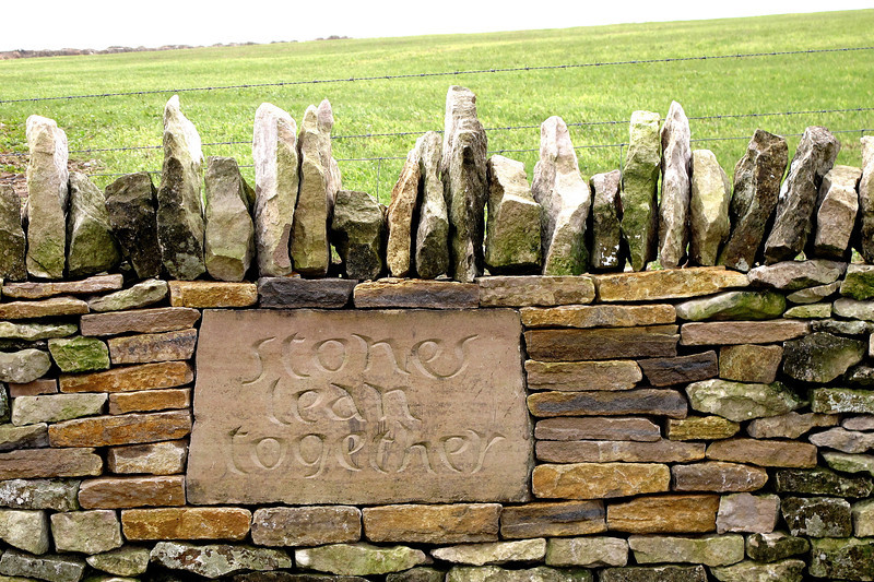 There are a few of these along the way, all with different sentiments (not just about stones).