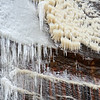 The ice on the right is not camera movement, it's just how it was formed from the waterfall.