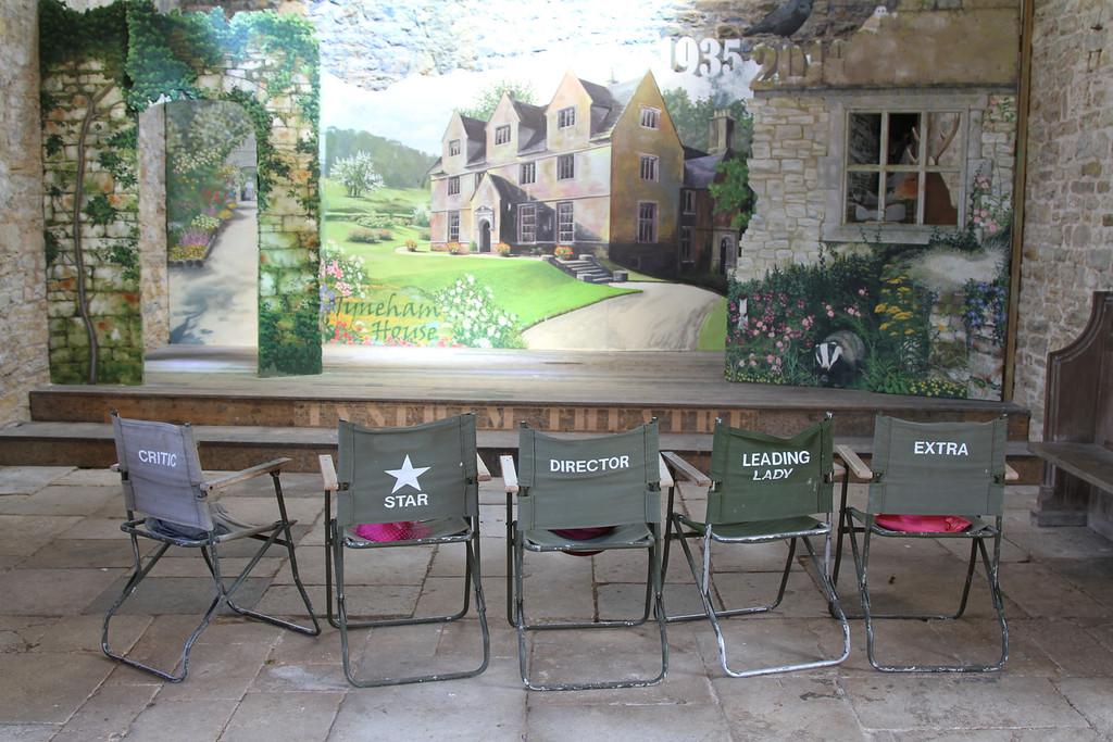 The auditorium in the barn at Tyneham Farm.