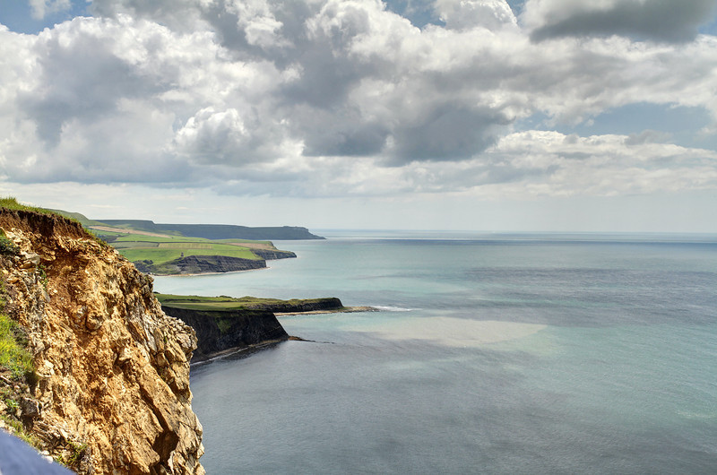 View from Gad Cliffs eastwards towards Kimmeridge and St Aldhelm's Head.