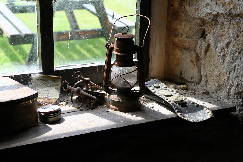 Relics in the stables at Tyneham Farm