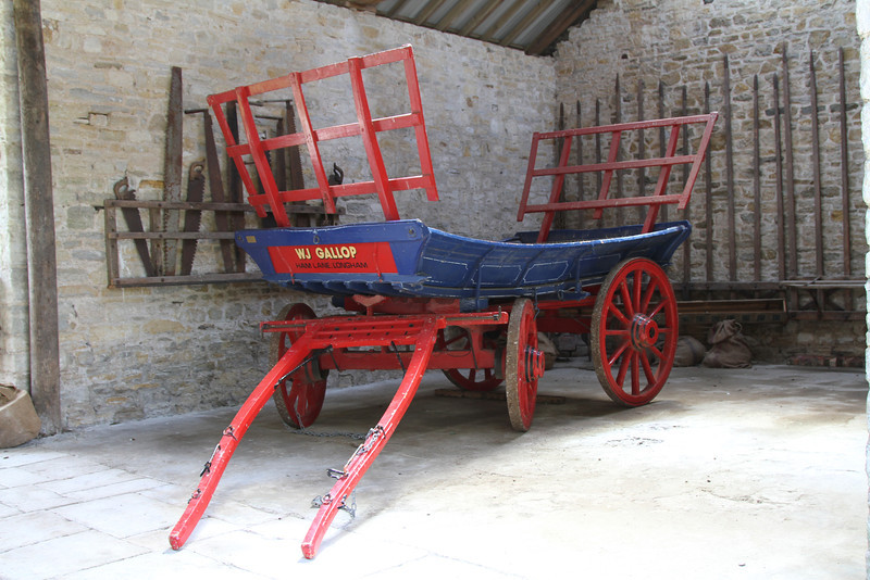 An exhibit at the Farm at Tyneham, now used as a visitors' centre and theatre.