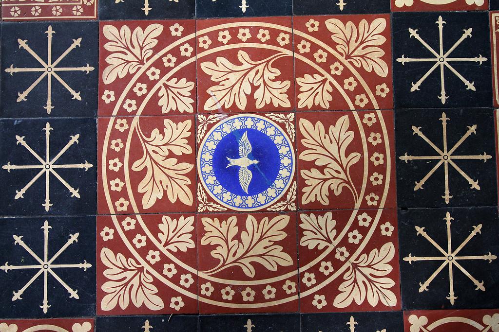 A Moreton Church floor tile.