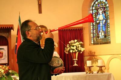 Bishop Adam gets in the World Cup spirit!