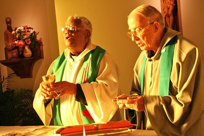 Fr. Anthony Austin and Fr. John Strittmatter.  Fr. John is based in Middelburg but is spending a few weeks at the Generalate taking a bit of R&R.