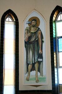 This, and a painting of Mary, were painted by a parishioner at Uganda Martyrs parish near De Aar.