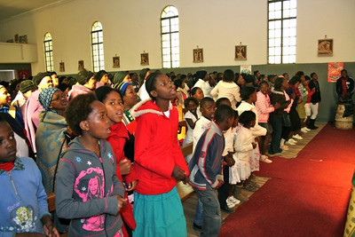 Young people play a prominent role in the liturgies at St. Teresa.