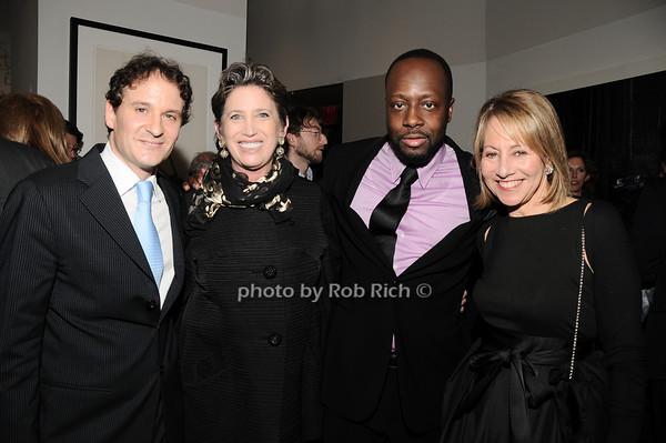David Hryck,Beth Rudin deWoody, Wyclef Jean, Lisa Dennison<br /> photo by Rob Rich © 2010 robwayne1@aol.com 516-676-3939