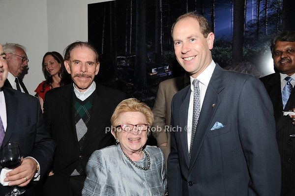 Peter Max, Dr.Ruth Westheimer, HRH The Prince Edward, Earl of Wessex<br /> photo by Rob Rich © 2010 robwayne1@aol.com 516-676-3939