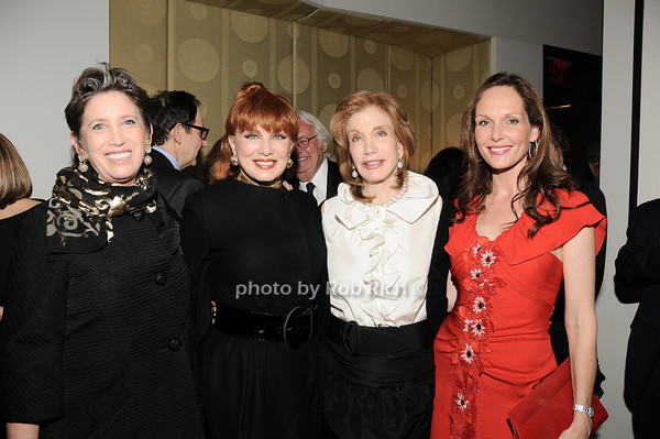Beth Rudin deWoody, Georgette Mossbacher, Elizabeth Kabler, Clo Cohen<br /> photo by Rob Rich © 2010 robwayne1@aol.com 516-676-3939