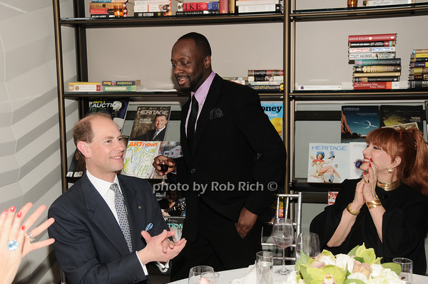 HRH The Prince Edward, Earl of Wessex, Wyclef Jean, Georgette Mossbacher<br /> photo by Rob Rich © 2010 robwayne1@aol.com 516-676-3939