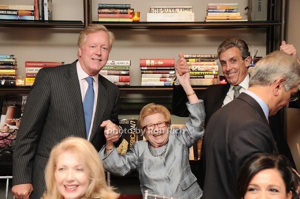 Frank Burch, Dr.Ruth Westheimer, Charles Cohen<br /> photo by Rob Rich © 2010 robwayne1@aol.com 516-676-3939