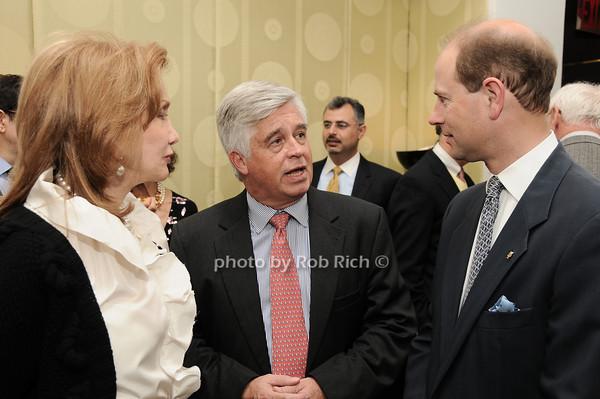 Elizabeth Kabler, Kip Hall, HRH The Prince Edward, Earl of Wessex<br /> photo by Rob Rich © 2010 robwayne1@aol.com 516-676-3939
