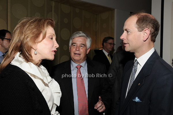 Elizabeth Kabler, Kip Hall, HRH The Prince Edward, Earl of Wessex<br /> photo by Rob Rich © 2010 robwayne1@aol.com 516-676-3939