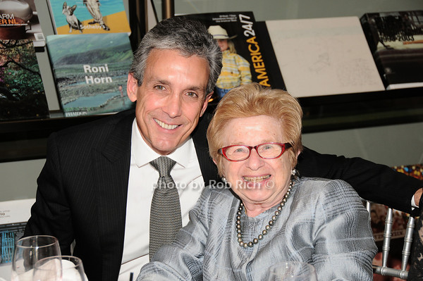 Charles Cohen, Dr. Ruth Westheimer<br /> photo by Rob Rich © 2010 robwayne1@aol.com 516-676-3939