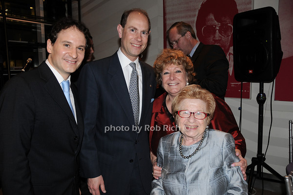 David Hryke, HRH The Prince Edward, Earl of Wessex, Catherine Saxton, Dr. Ruth Westheimer<br /> photo by Rob Rich © 2010 robwayne1@aol.com 516-676-3939