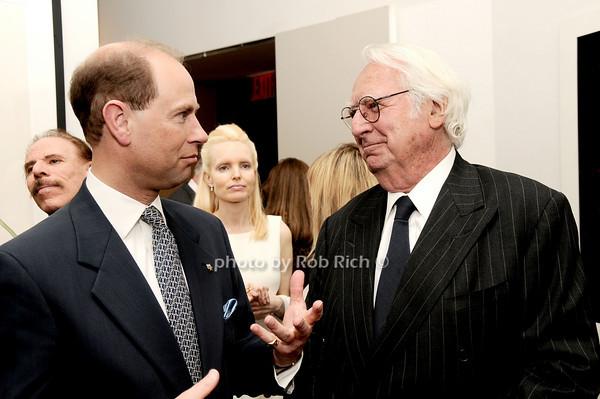 Kip Hall, HRH The Prince Edward, Earl of Wessex, Richard Meier<br /> photo by Rob Rich © 2010 robwayne1@aol.com 516-676-3939
