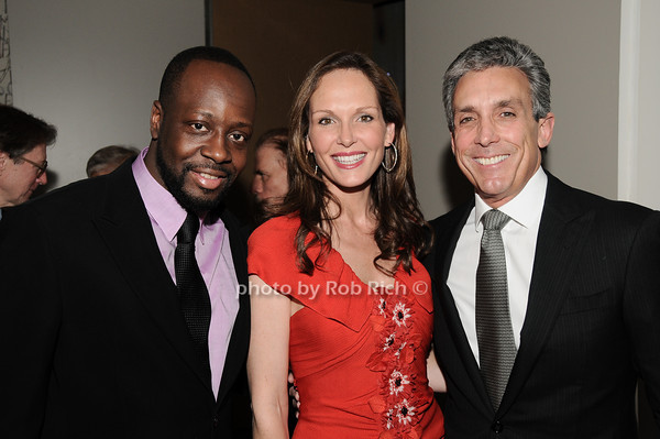 Wyclef Jean, Clo Cohen, Charles Cohen<br /> photo by Rob Rich © 2010 robwayne1@aol.com 516-676-3939