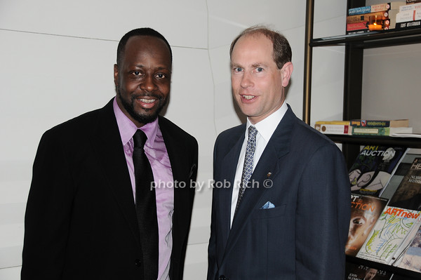 Wyclef Jean, HRH The Prince Edward, Earl of Wessex<br /> photo by Rob Rich © 2010 robwayne1@aol.com 516-676-3939