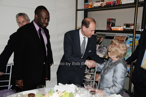 Wyclef Jean,HRH The Prince Edward, Earl of Wessex, Dr.Ruth Westheimer<br /> photo by Rob Rich © 2010 robwayne1@aol.com 516-676-3939