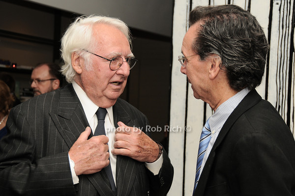 Richard Meier, Rod Waywell<br /> photo by Rob Rich © 2010 robwayne1@aol.com 516-676-3939